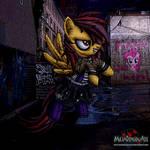 Violet Melody cyberpunk