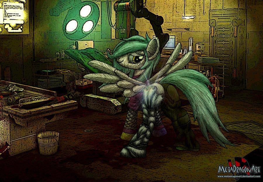 Chroma's new leg by MetaDragonArt