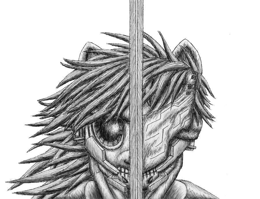 Pony Gear Rising: Revengence pen sketch by MetaDragonArt