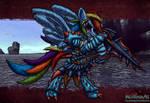 my little monster hunter - rainbow dash