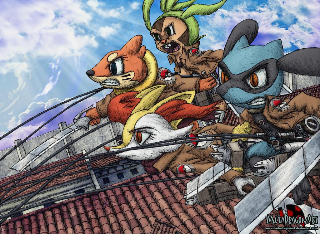 Shingeki no Pokemon (Attack on Pokemon) by MetaDragonArt