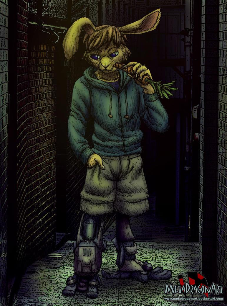cyberpunk bunny boy by MetaDragonArt