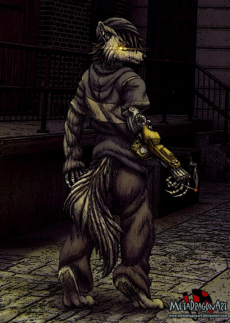 Cyberpunk Wolf by MetaDragonArt