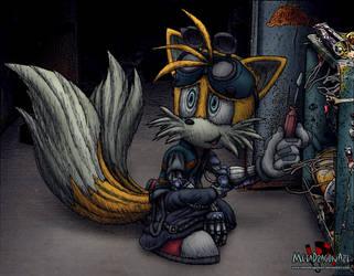Cyberpunk Tails by MetaDragonArt