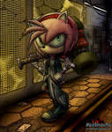 cyberpunk Amy Rose