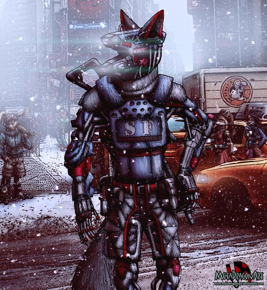 Cybernetic Investigative Enforcer Unit: Stelth Fox by MetaDragonArt