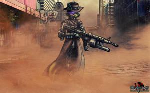 Luc the cybernetic cowboy by MetaDragonArt