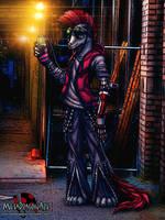 Meta Dragonart the Cyberpunk Weasel by MetaDragonArt