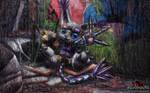 Gatomon Cyberpunk - traditional version