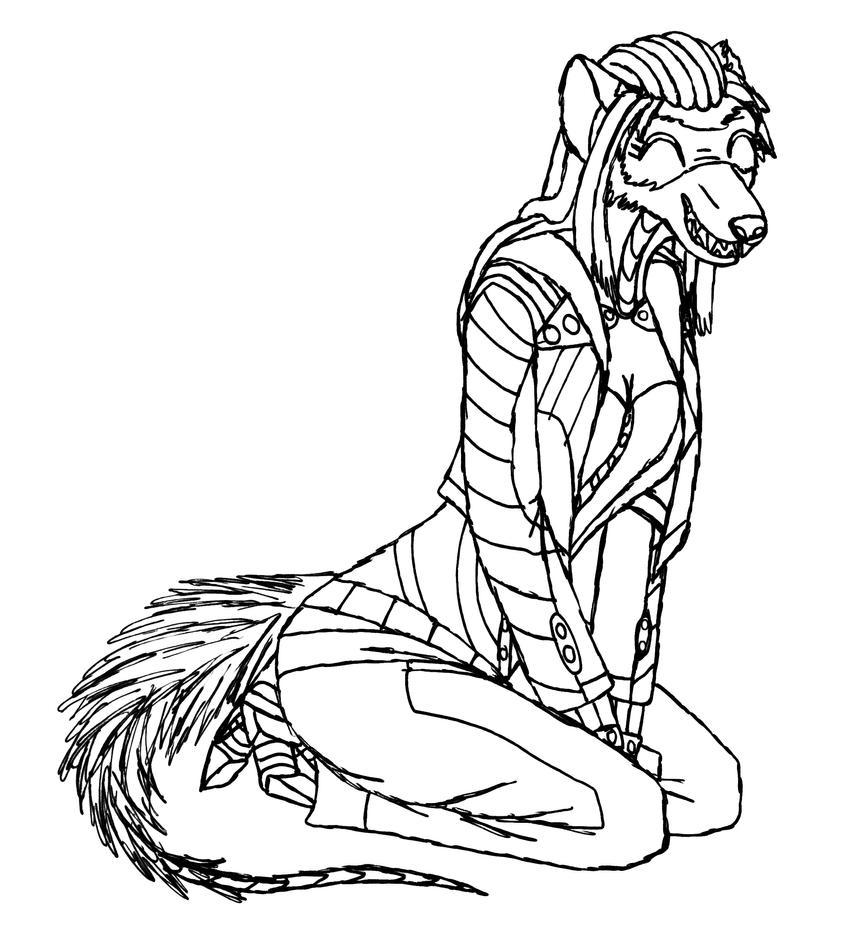 just a  ferret sketch by MetaDragonArt