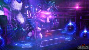 Cyberpunk Vinyl Scratch