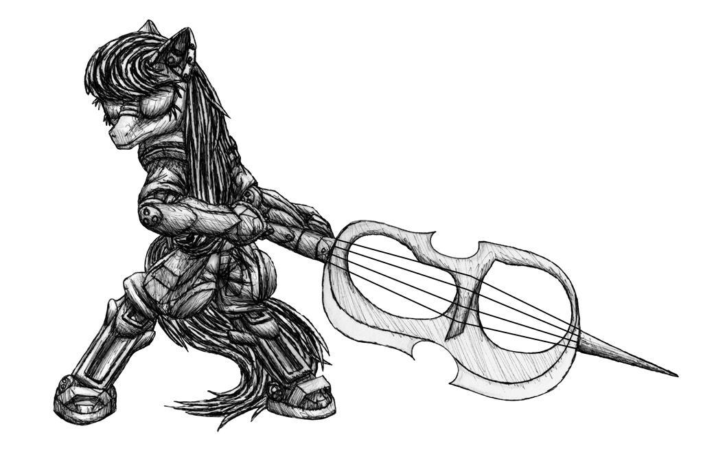 Cyberpunk Octavia sketch by MetaDragonArt