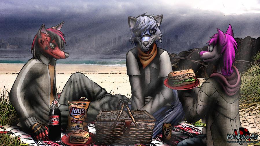 city's wet, so let's have a picnic!