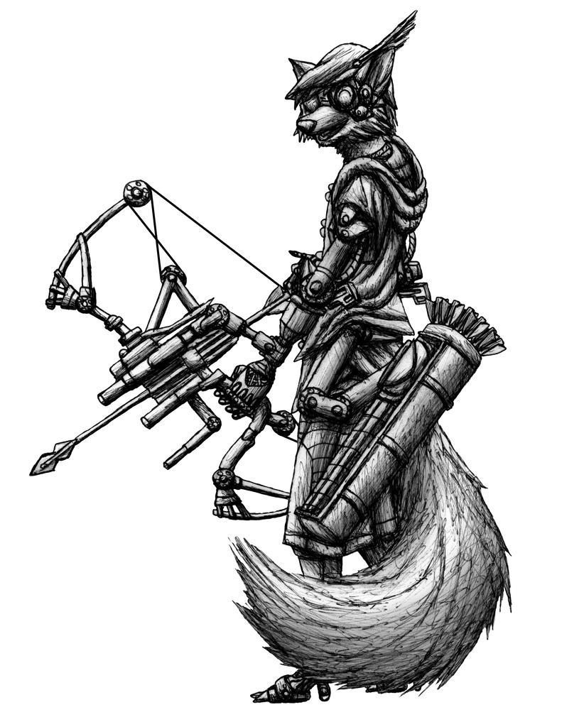 Robin Hood Cyberpunk sketch by MetaDragonArt