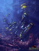 Cyberpunk Disney - Robin Hood by MetaDragonArt