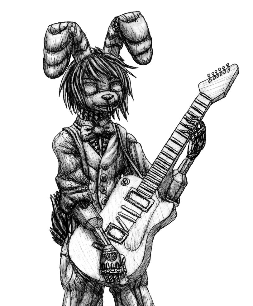 FNAF Bonnie sketch by MetaDragonArt