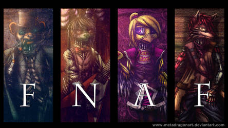 Five Nights At Freddy's cyberpunk poster