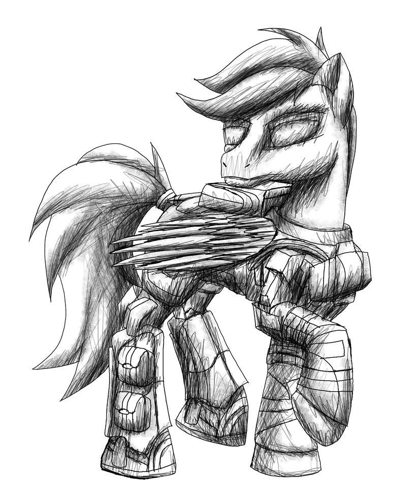 ODST pony - my first digital sketch by MetaDragonArt