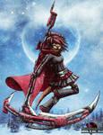 RWBY - cyberpunk furry Ruby