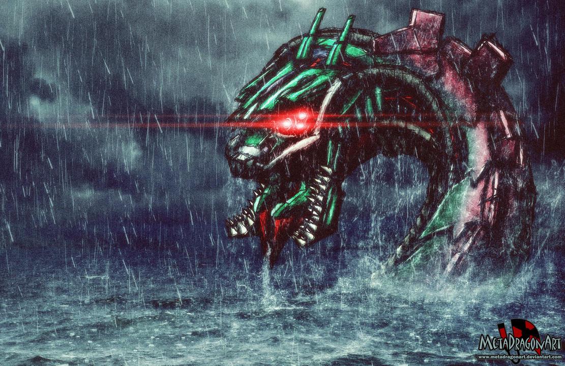 Cyberpunk Ogopogo by MetaDragonArt
