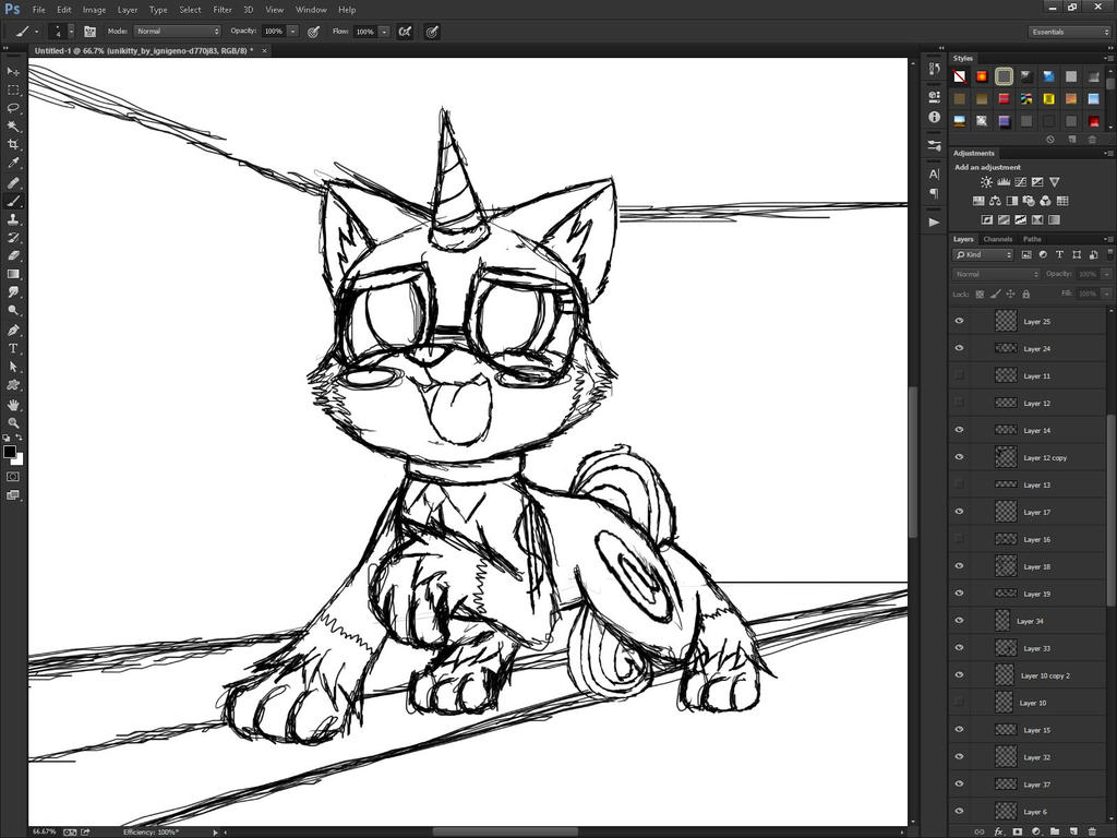Unikitty Buisness Wip 1 by MetaDragonArt