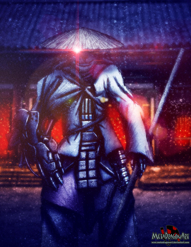 the cyborg samurai by MetaDragonArt
