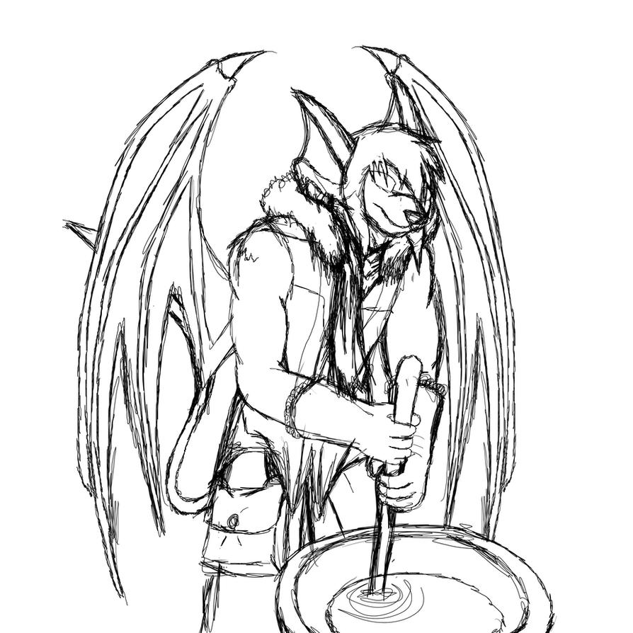 making soup sketch by MetaDragonArt