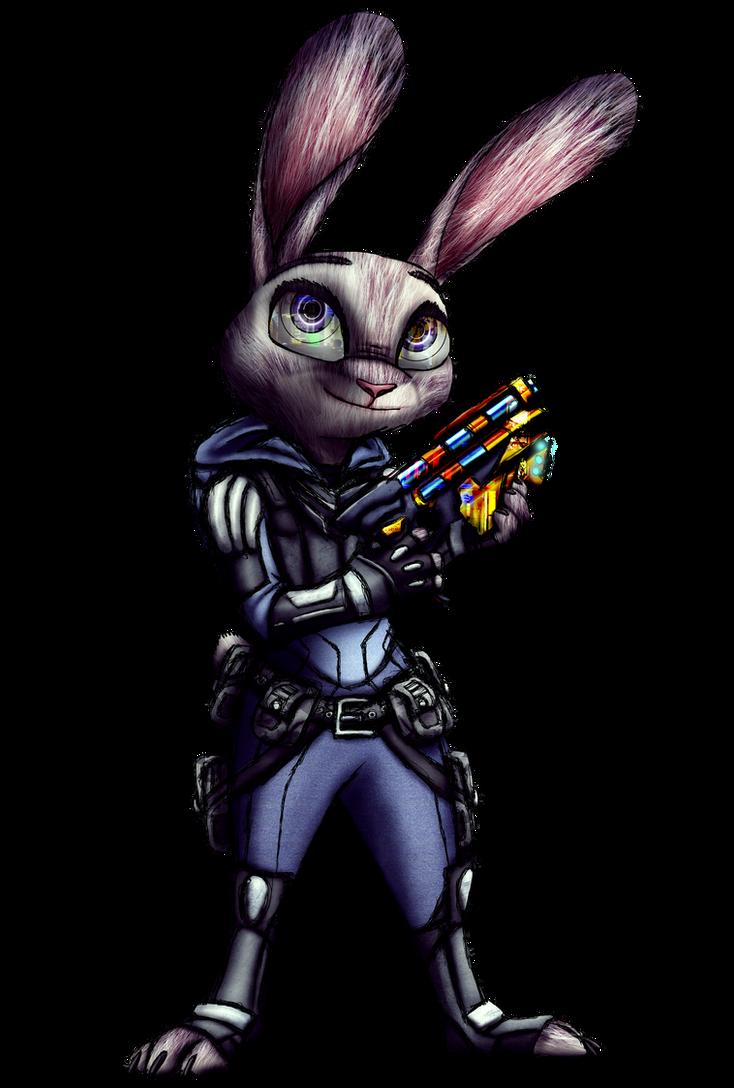 Judy Hopps Cyberpunk render by MetaDragonArt