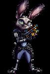 Judy Hopps Cyberpunk render