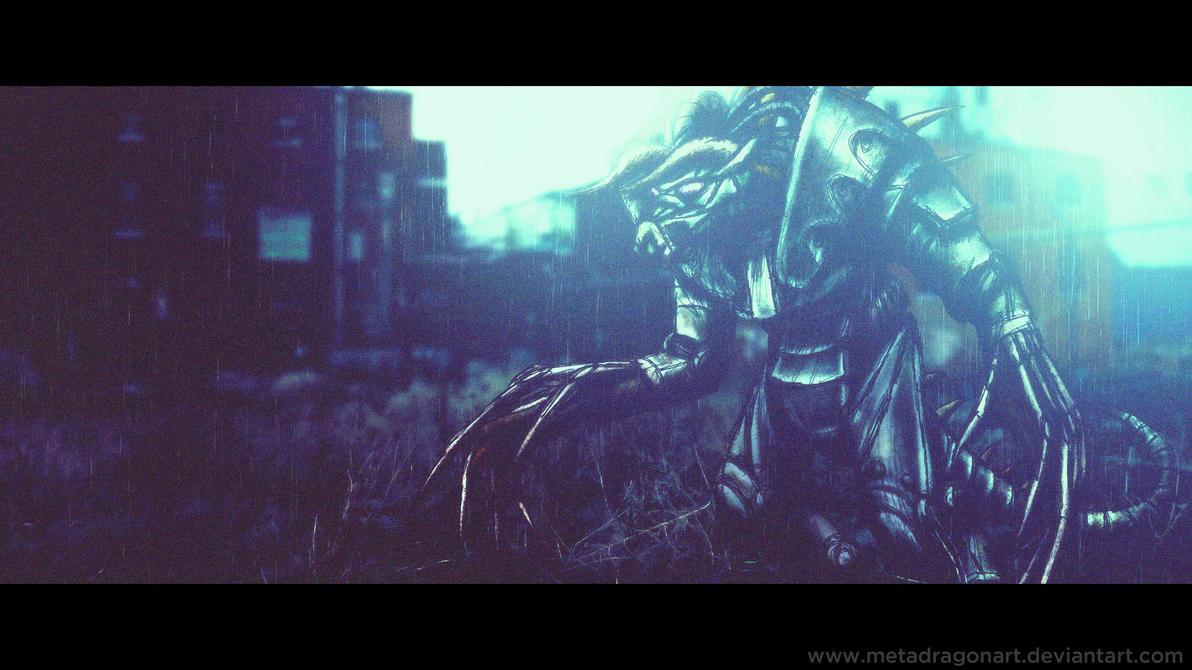 Enclave Power Armored Deathclaw by MetaDragonArt