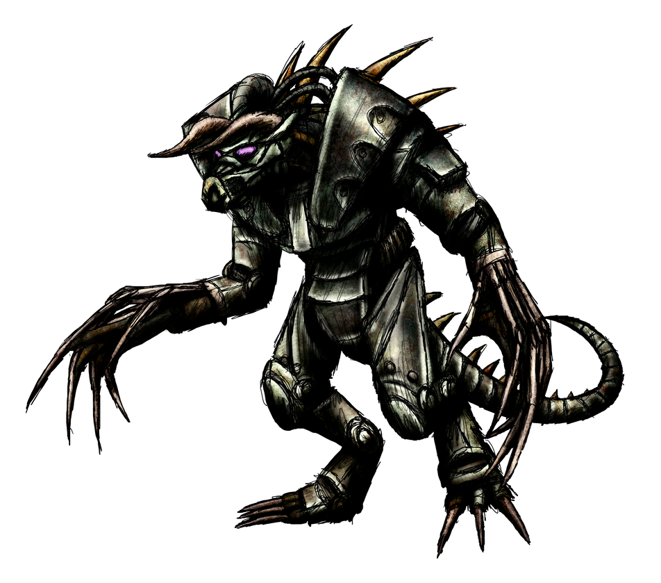 Enclave Power Armored Deathclaw Render by MetaDragonArt