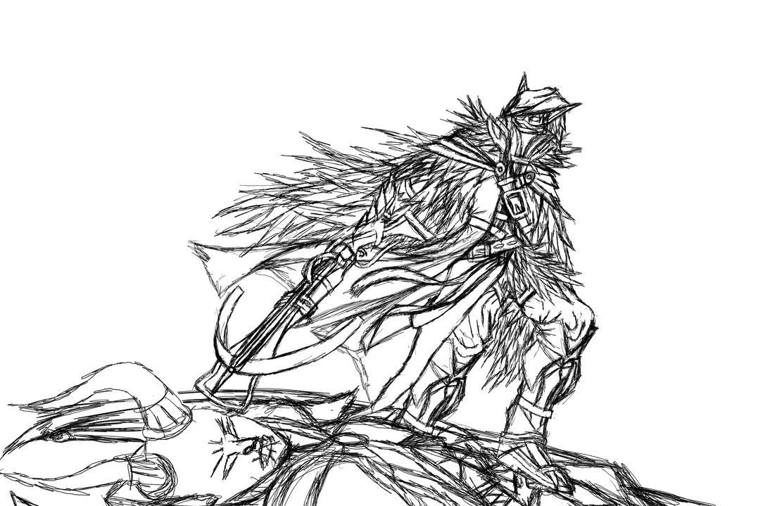 night elf sketch by MetaDragonArt