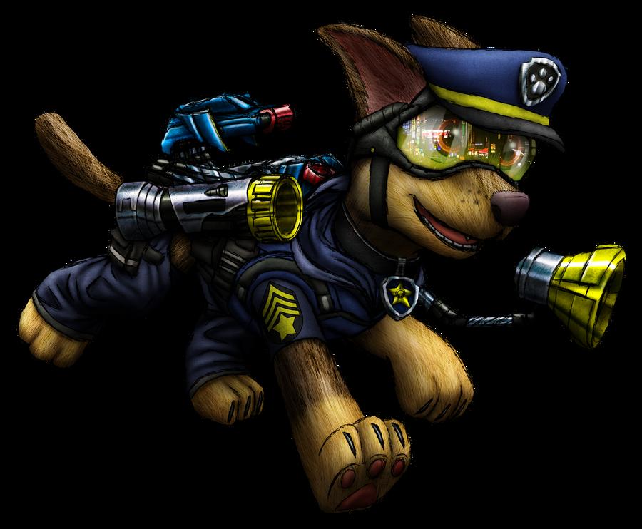 Paw Patrol - Chase Render by MetaDragonArt