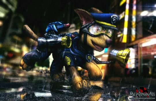 Paw Patrol - Chase by MetaDragonArt