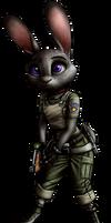 Zootopia X Resident Evil - Judy Hopps render by MetaDragonArt