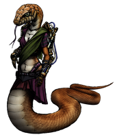 Saavi Manjarekar Render (cyberpunk snake girl) by MetaDragonArt