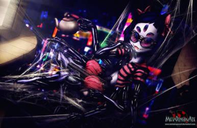 Cyberpunk Undertale - Muffet by MetaDragonArt