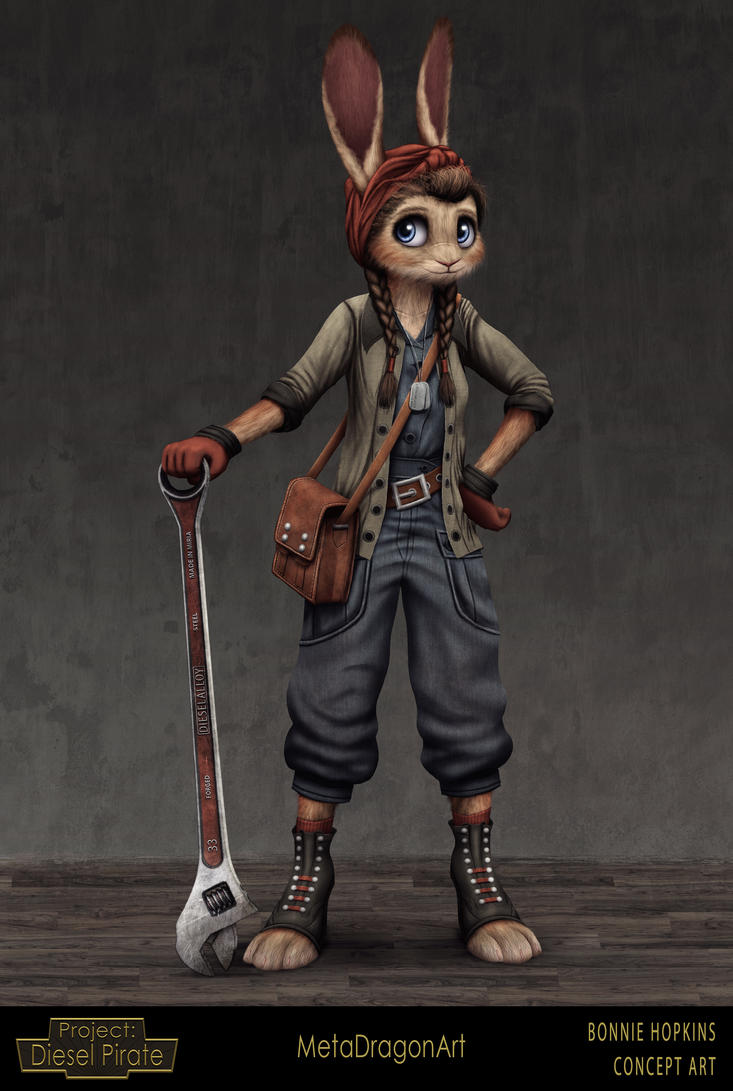 Bonnie Hopkins - Project: Diesel Pirate by MetaDragonArt
