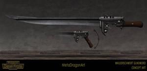 Mauserschwert Gunsword - Project: Diesel Pirate by MetaDragonArt
