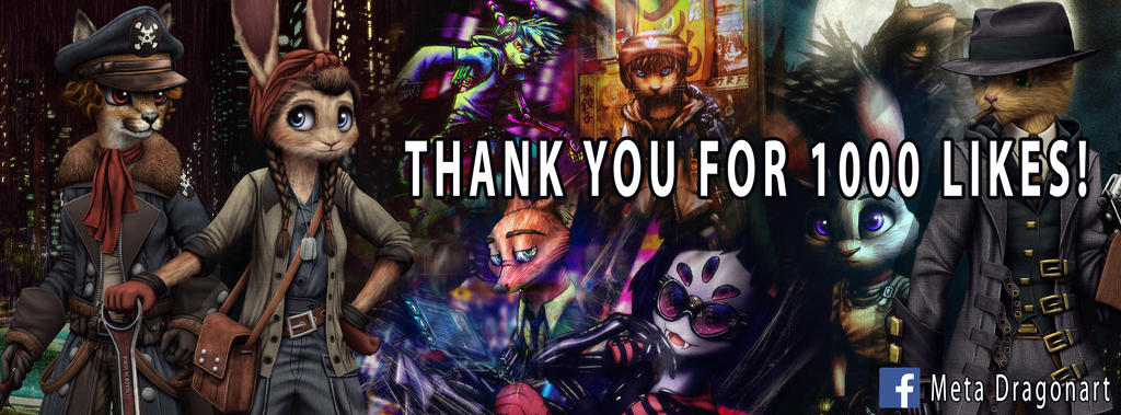 1000 Likes Banner by MetaDragonArt