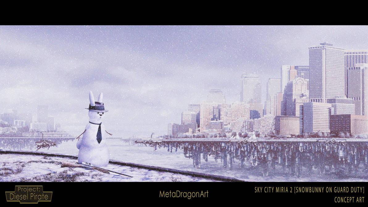 Sky City Miria 2 (Snowbunny On Guard Duty) by MetaDragonArt