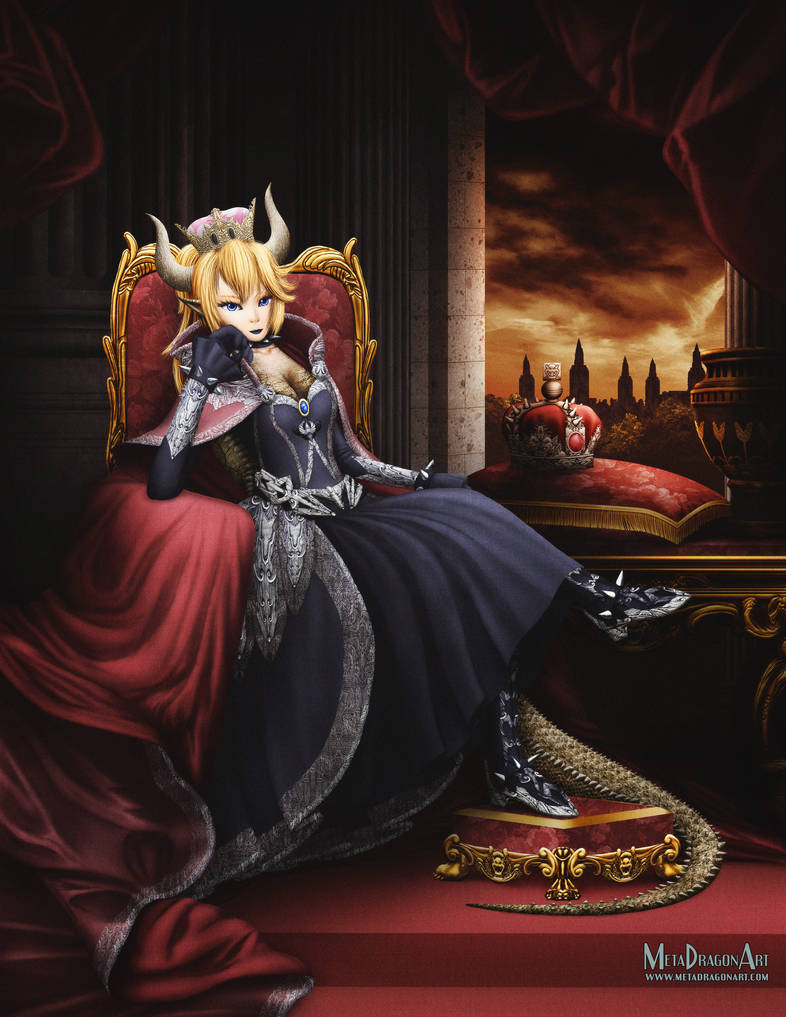 Her Royal Highness, The Princess Bowsette by MetaDragonArt