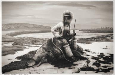 Raulogre hunting - platinotype ver.