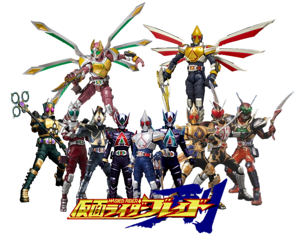 Kamen Rider Blade All Riders and Forms by omphramz on ...