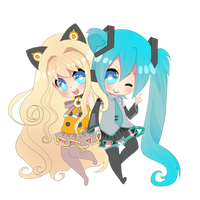 AT: SeeU+Miku by Rawjr