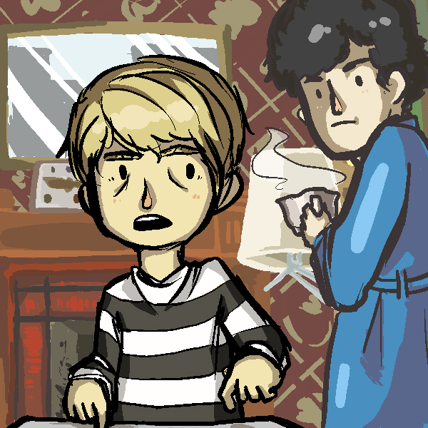 A Consulting Detective and his Blogger by popokoli