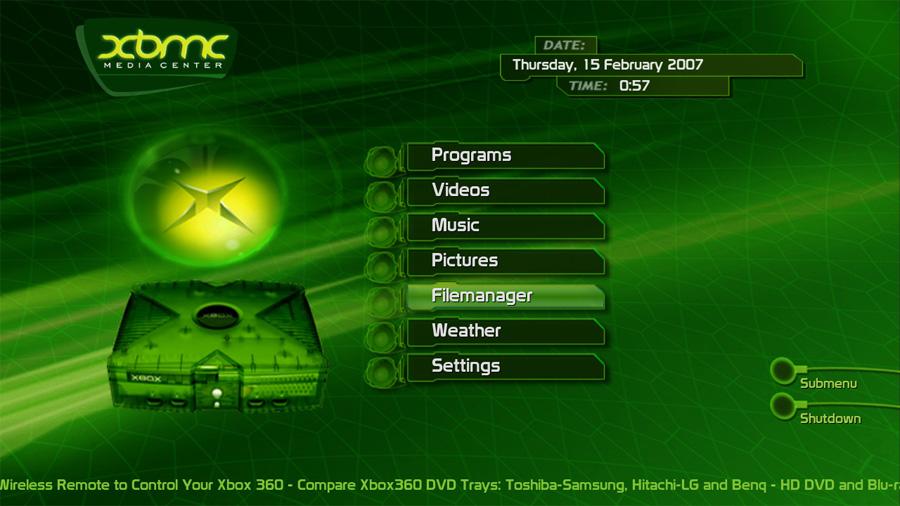Xbox Classic - XBMC Skin by Blackbolt on DeviantArt