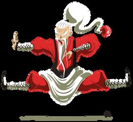 Kung Fu Santa by codeart