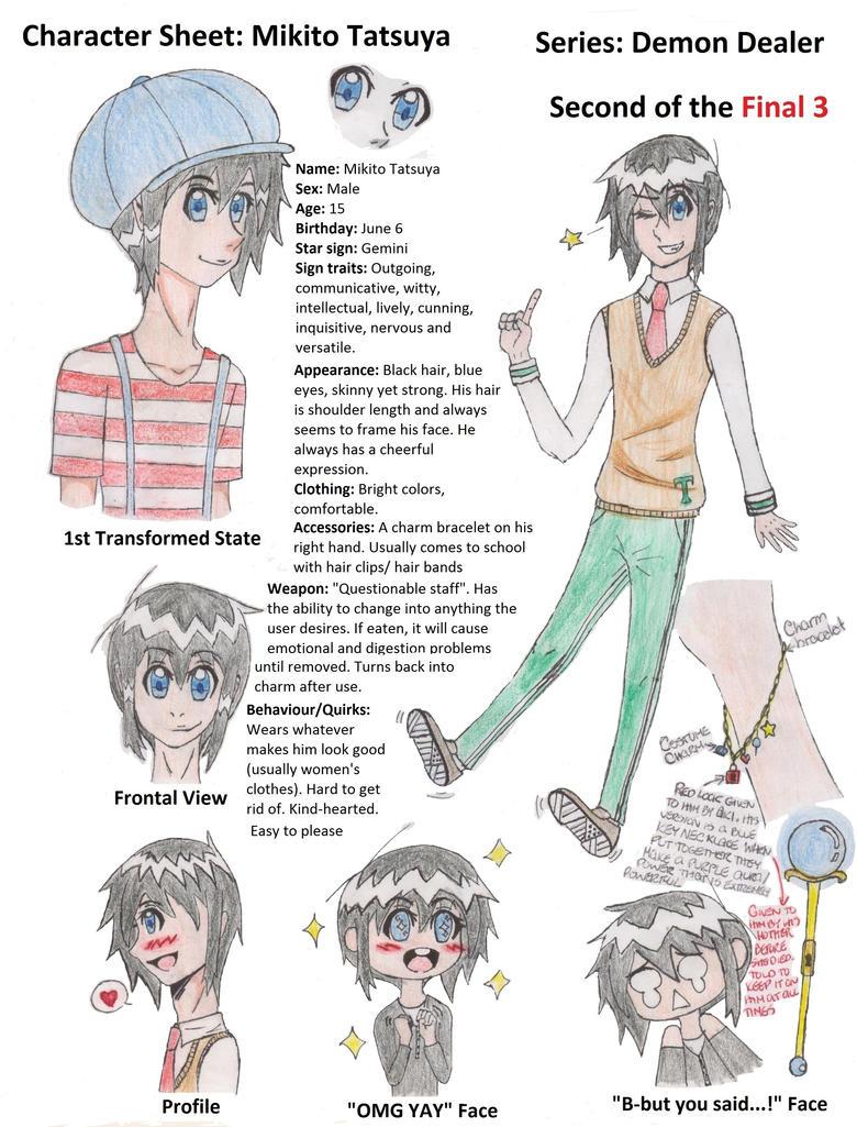 Character Sheet: Mikito Tatsuya by MegaAnimeFreak7