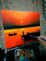 Painting Sunset by PrithviArts